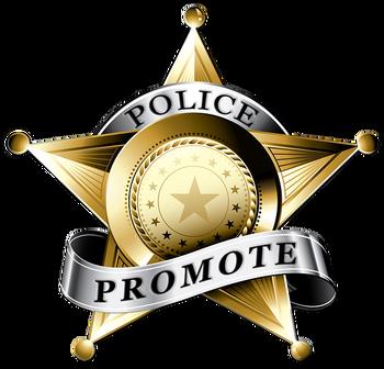 Police Promote Company Logo by Andy Borrello in Chino Hills CA