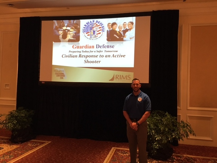 Conference Speaker at RIMS Educational State Conference by Guardian Defense - Active Shooter Training in Boca Raton FL